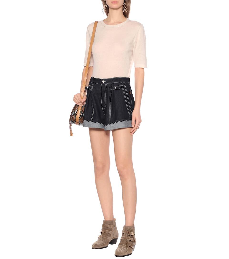 High-Rise Denim Shorts | Chloé - Mytheresa