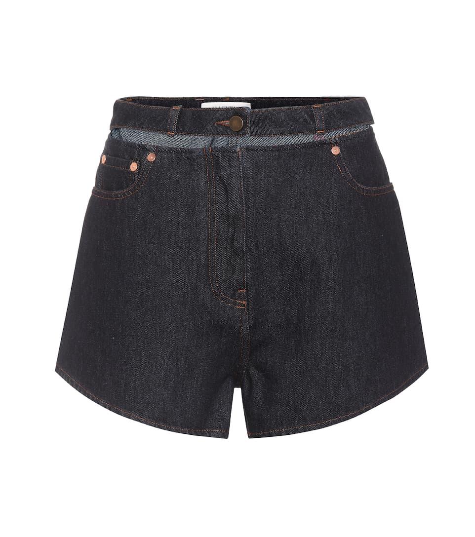 Valentino Verzierte Jeansshorts