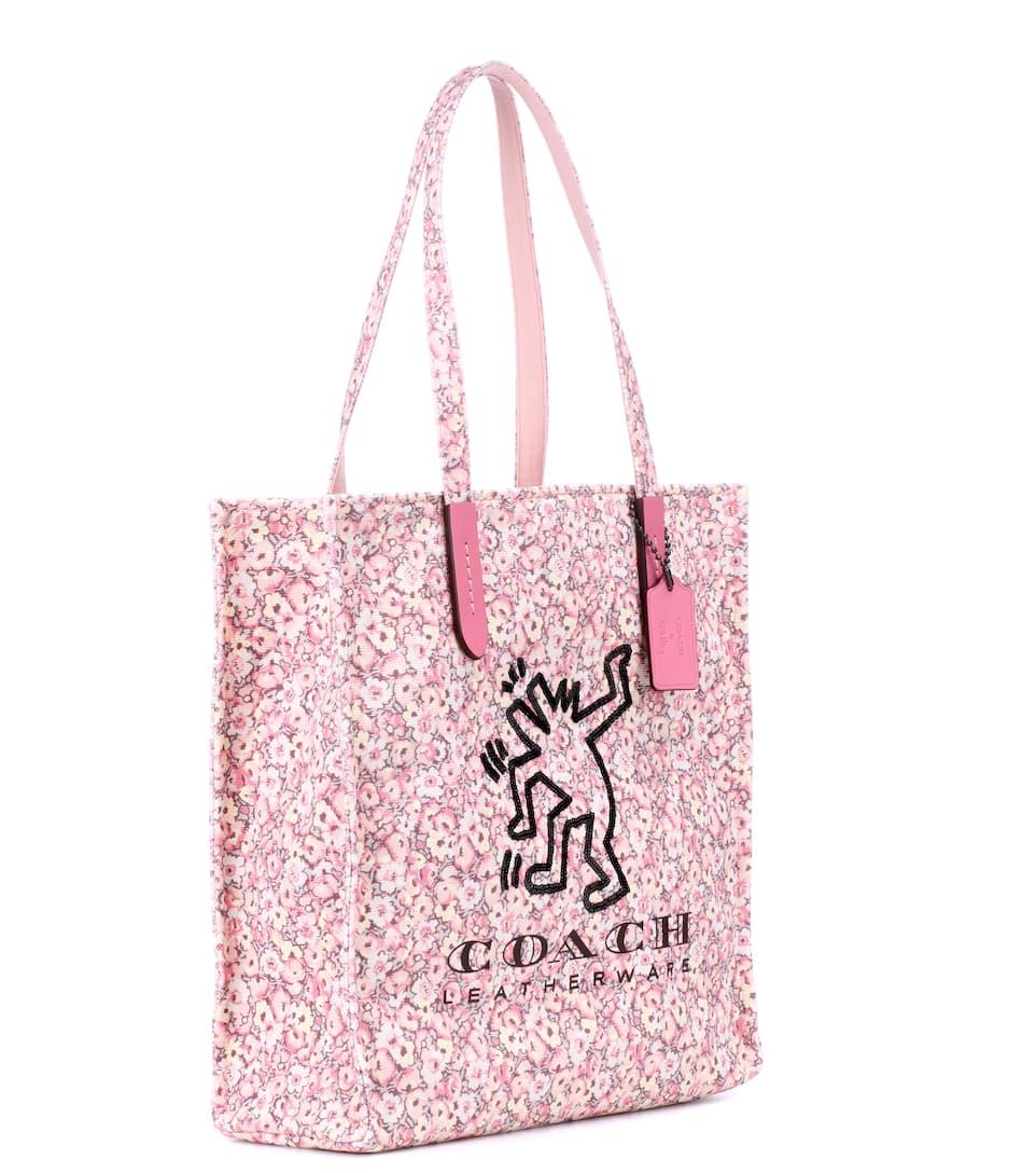 Austrittsspeicherstellen Websites Online-Verkauf Coach X Keith Haring bedruckte Tote aus Canvas Manchester Günstiger Preis Vorbestellung Verkauf Online Shop-Angebot Günstiger Preis Yr3vIA