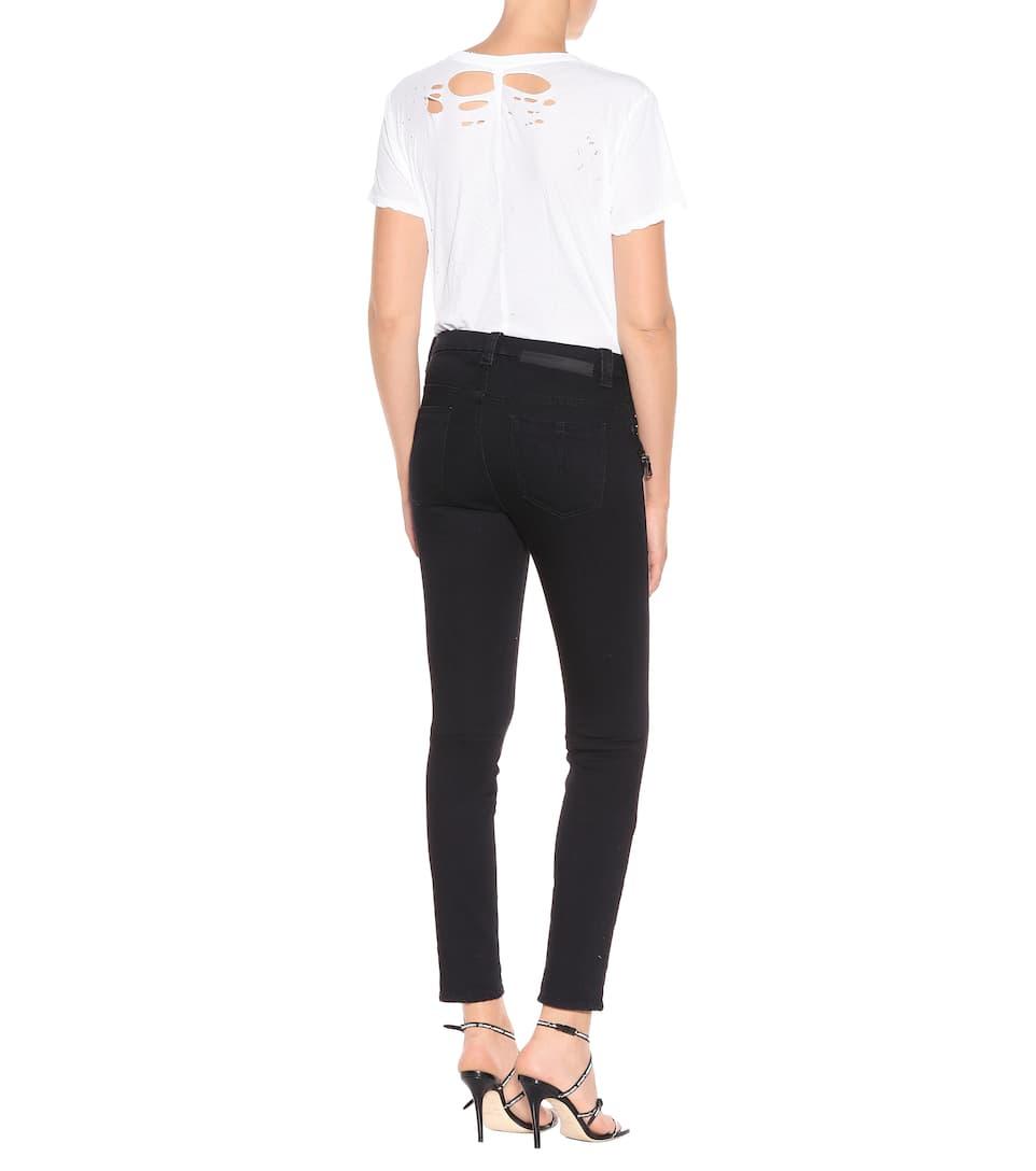 Negro Unravel ajustados Jeans con cordones XWnTWgr