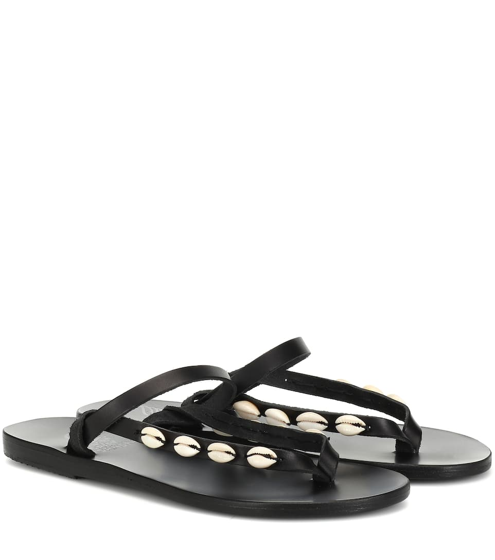 1ee6cb1ad Exclusive To Mytheresa – Mirsini Embellished Leather Sandals - Ancient  Greek Sandals