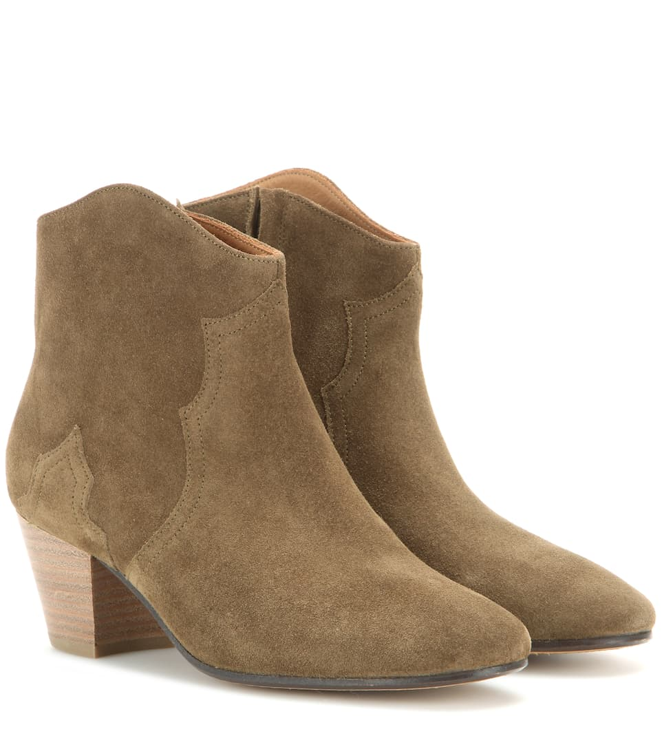 Dicker Bottines En Daim Isabel Marant ve9OlqX