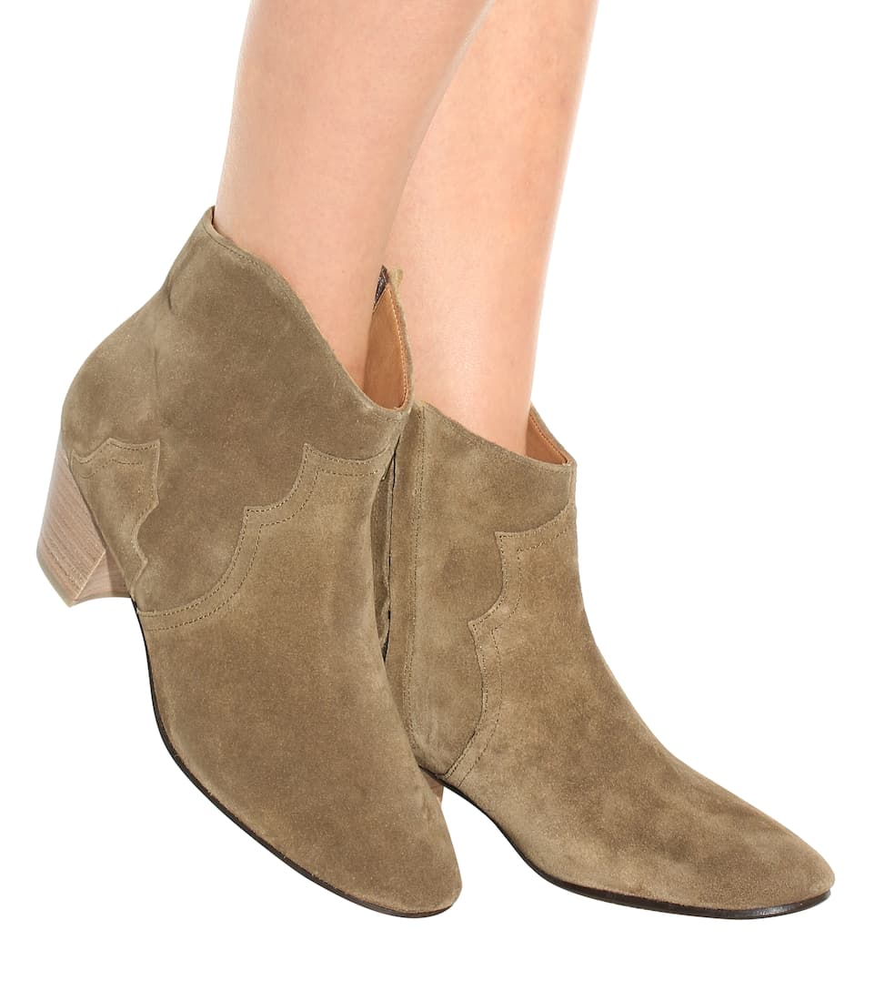 Isabel Marant Étoile The Dicker Ankle Boots aus Veloursleder