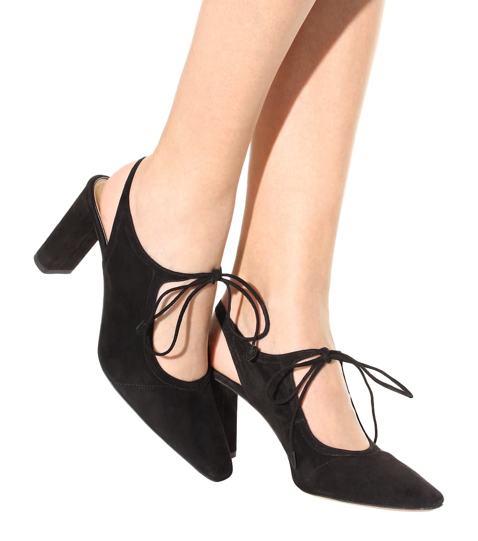 for sale discount sale finishline The Row Camil Suede Pumps low cost for sale nhpGKVj