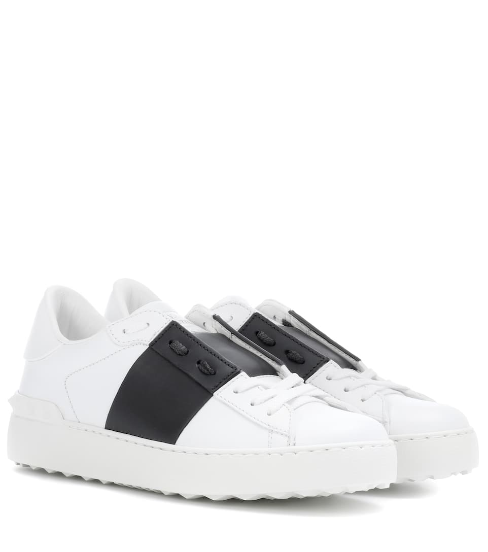 Leather Valentino Open Garavani Open Sneakers Garavani Sneakers Valentino Leather dCtrsxhQ