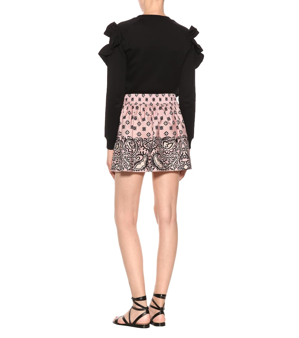 REDValentino Bandana-print skirt Light Pink Cheap Sale Clearance sDrq5xi