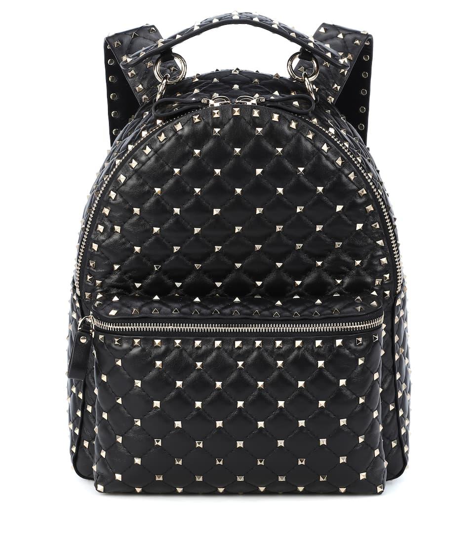776a0b13a2 Valentino Garavani Rockstud Spike Leather Backpack