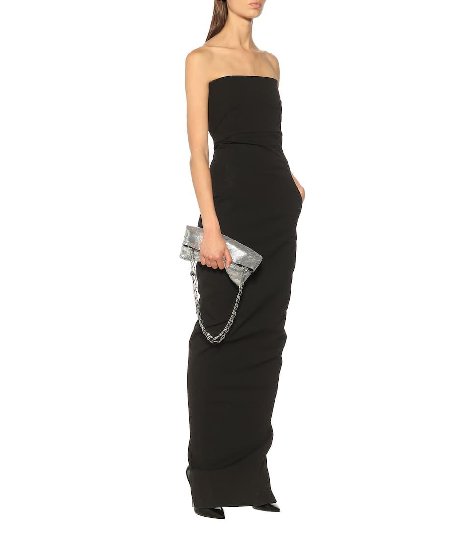 Off shoulder black long dress