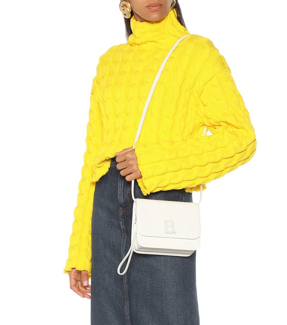 B  Small Leather Shoulder Bag