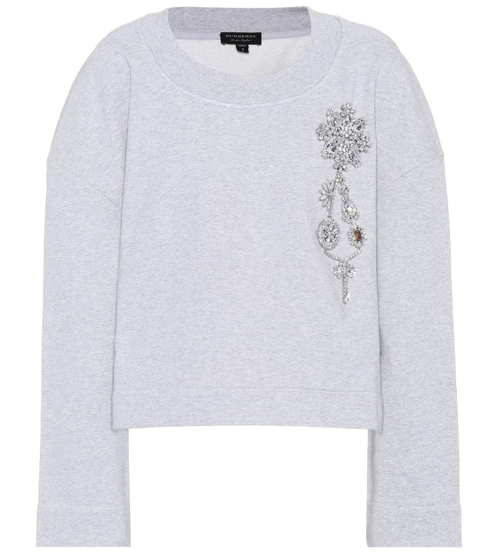 Cropped Cotton Jersey Sweatshirt by Burberry