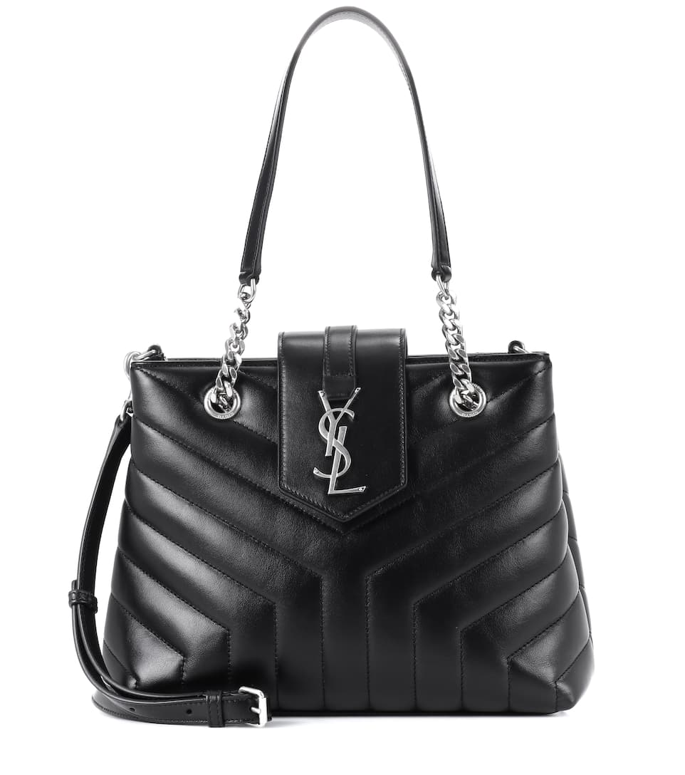 SMALL LOULOU LEATHER SHOPPER