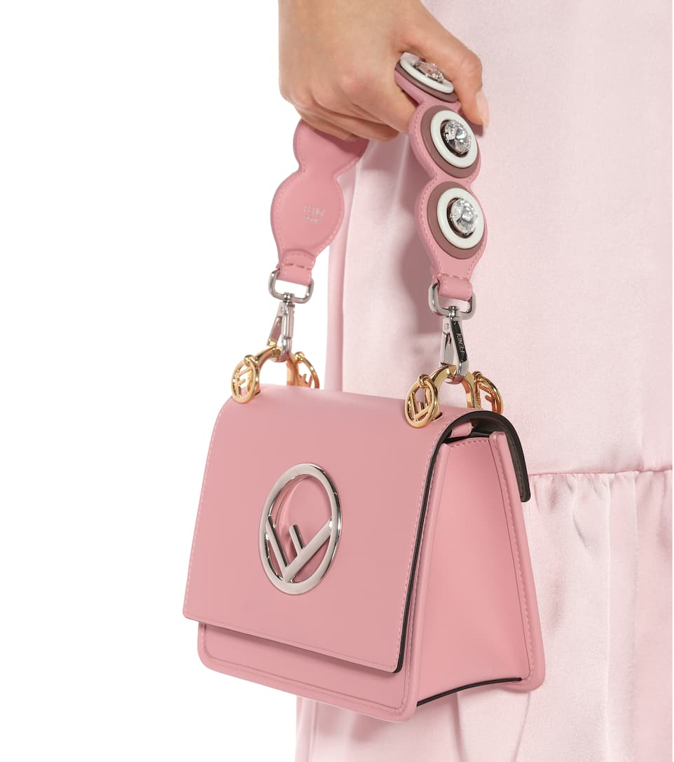 Fendi Exclusive to mytheresa.com - Mini Strap You leather bag strap E6VoSBd