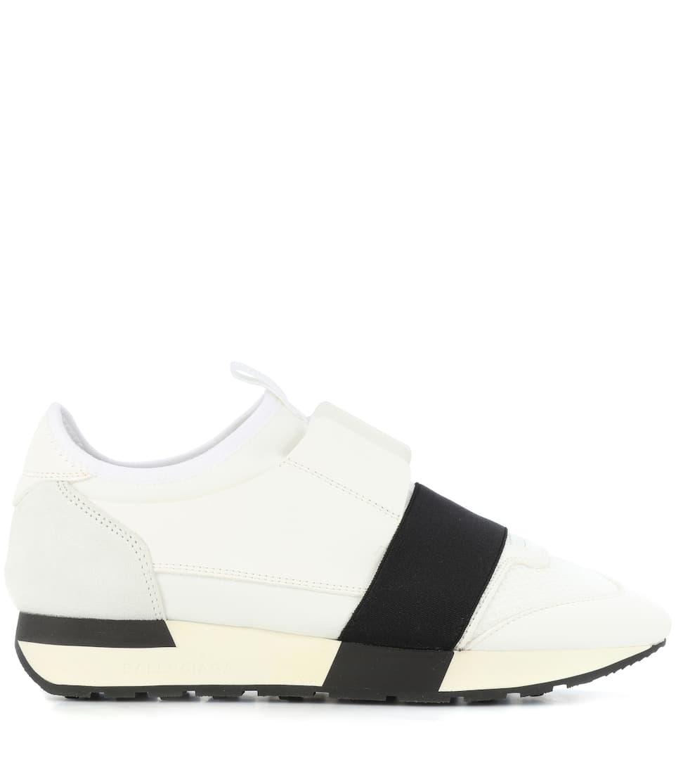 Spielraum Großhandelspreis Balenciaga Sneakers Race Runner mit Lederbesatz Große Überraschung Fpq5P
