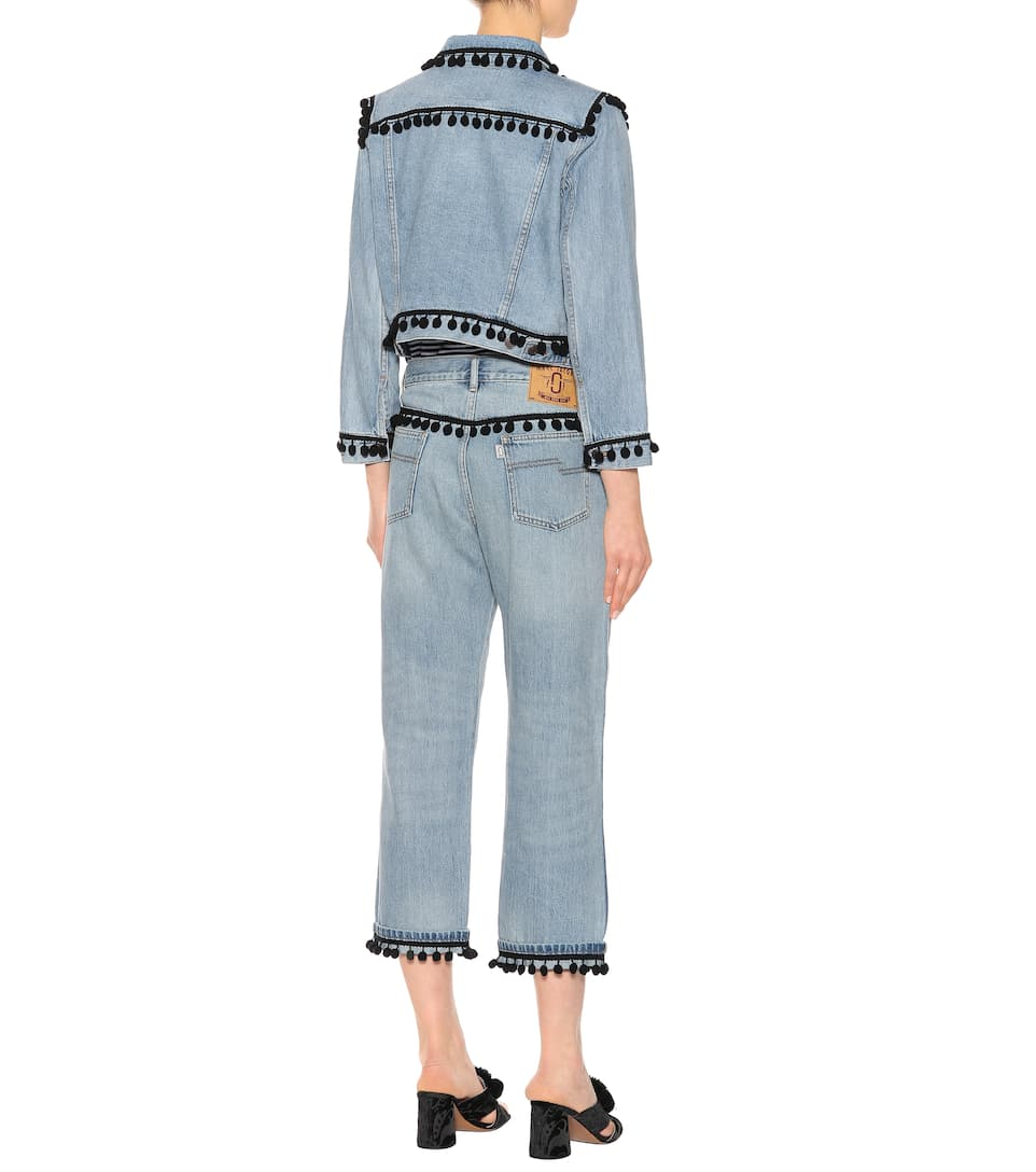 Marc Jacobs Verzierte Cropped Jeans aus Baumwolle