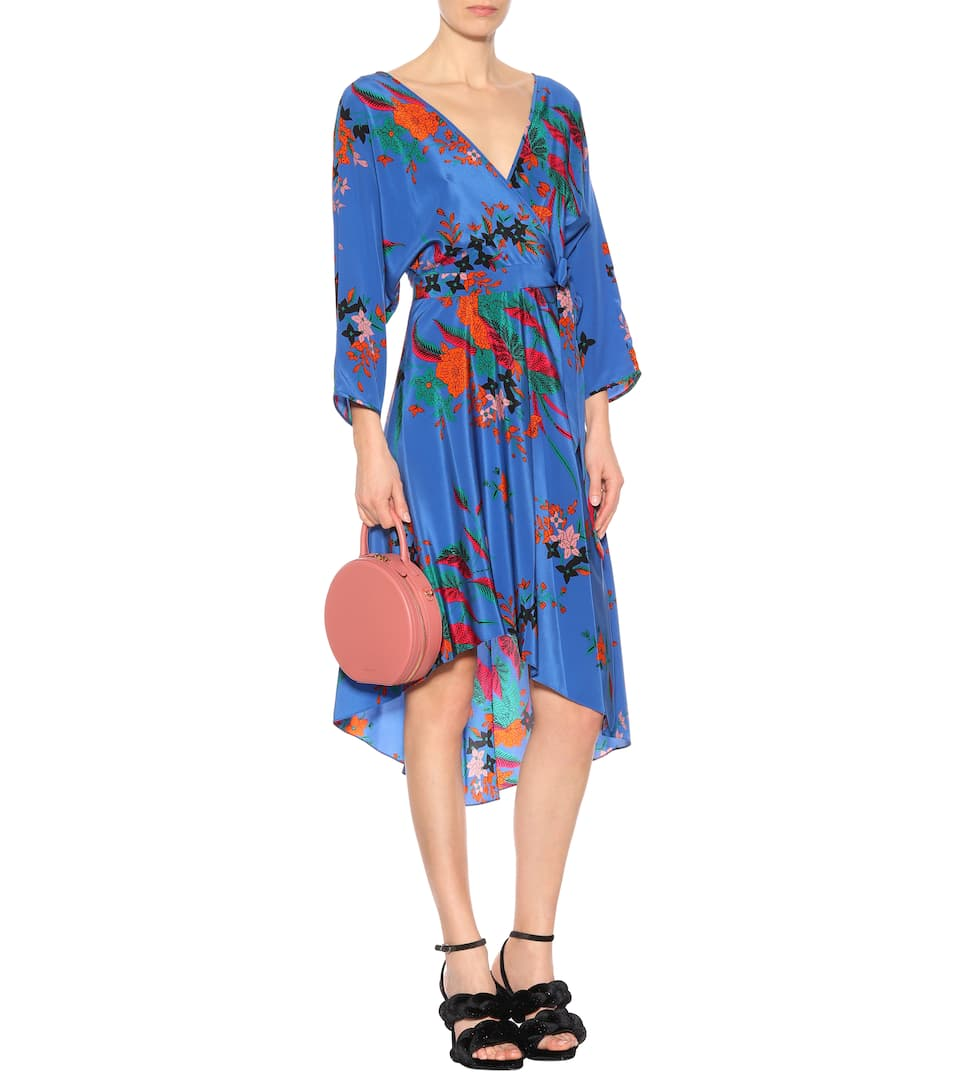 Diane Von Furstenberg Asymmetrical Dress In Silk