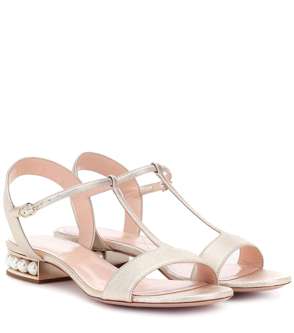 CASATI PEARL LEATHER SANDALS
