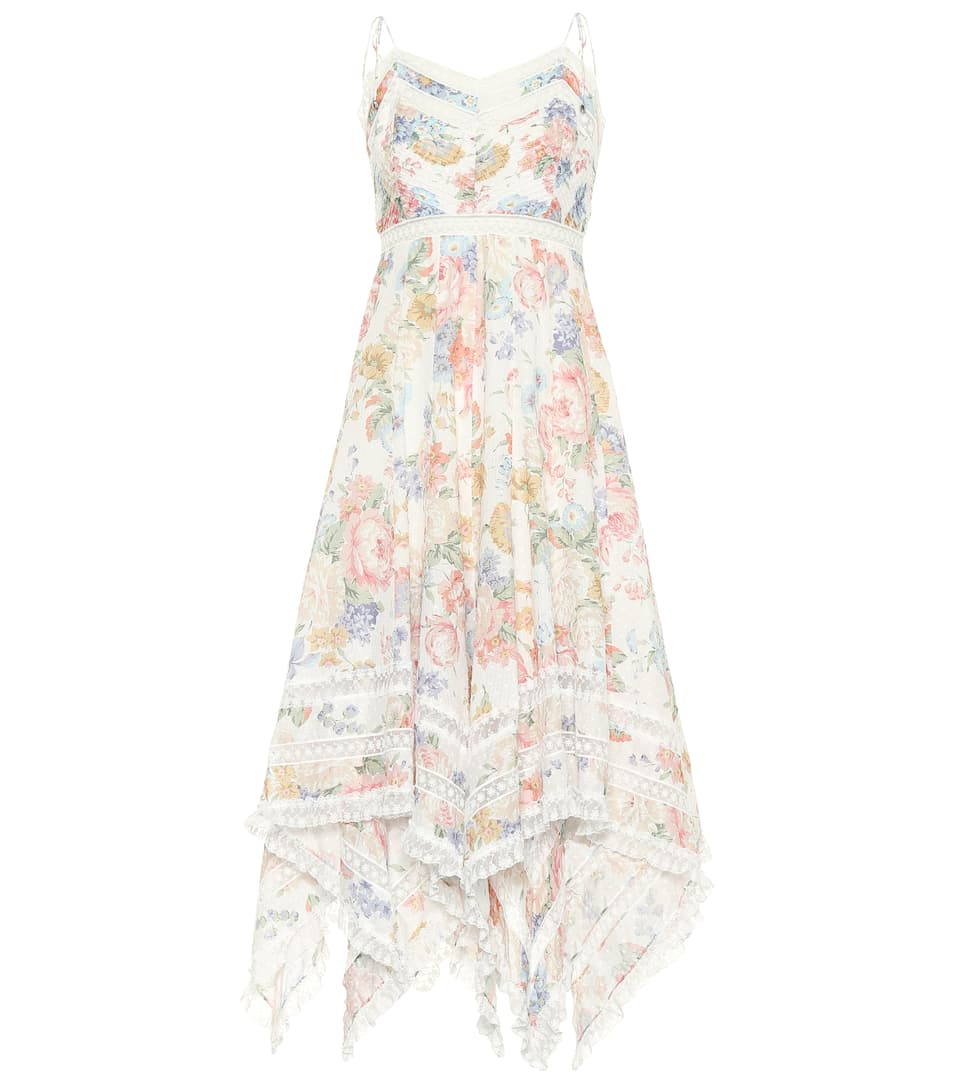 Bowie Floral Printed Cotton Dress by Zimmermann