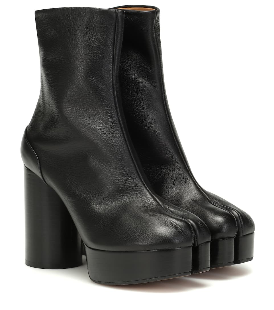 Tabi Platform Leather Boots by Maison Margiela