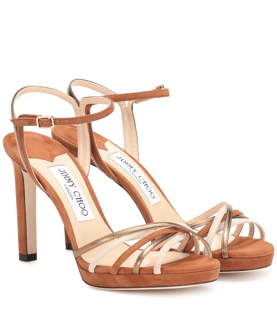 Jimmy Choo Sandals Lilah 100 suede sandals