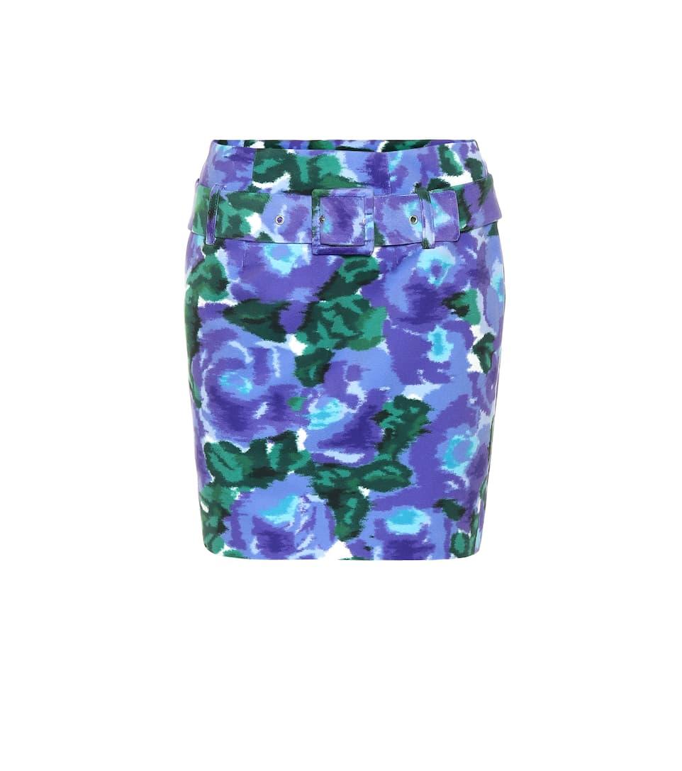 f9cfe8a2f Minifalda de terciopelo floral