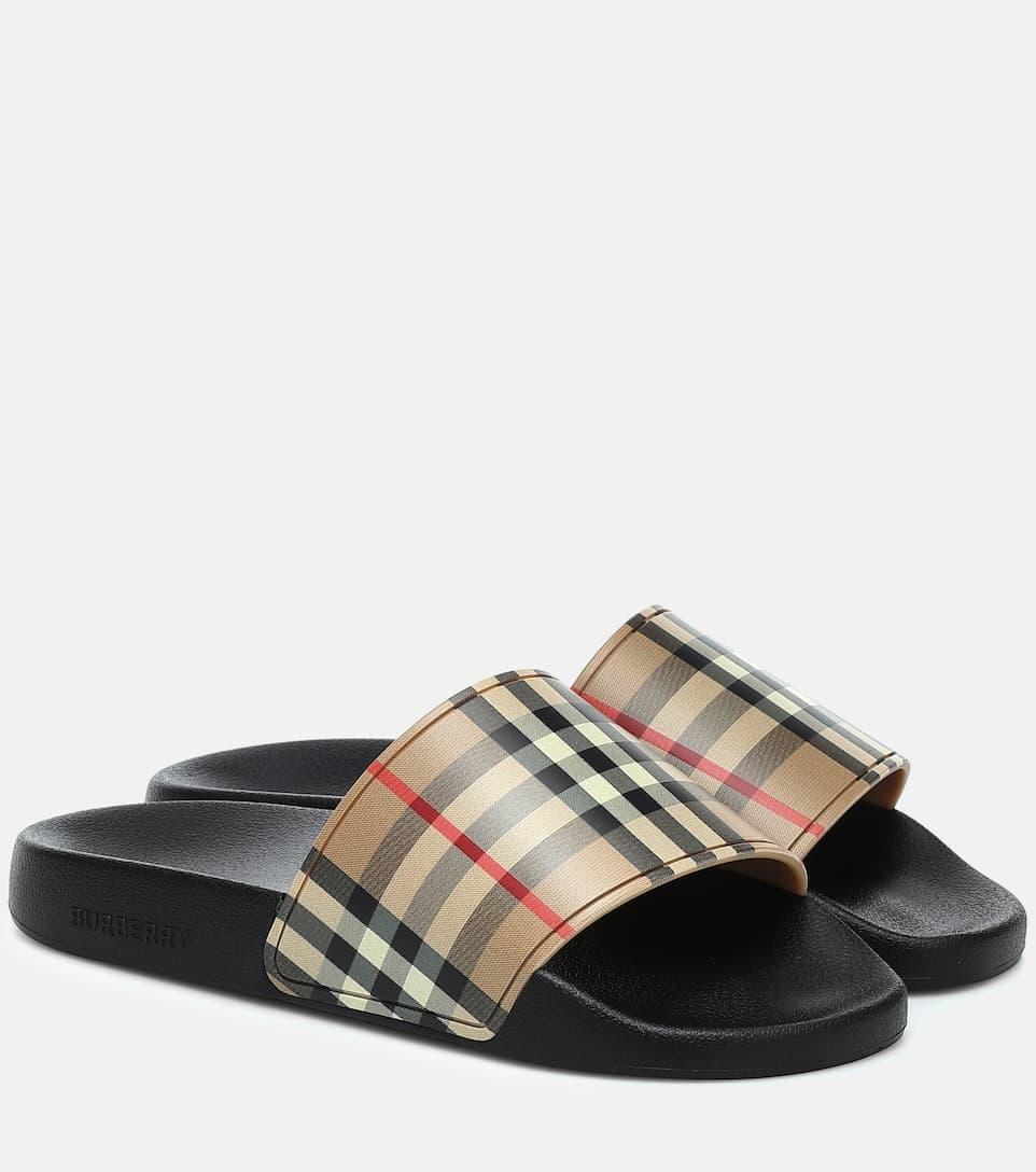 Vintage Check Slide Sandals