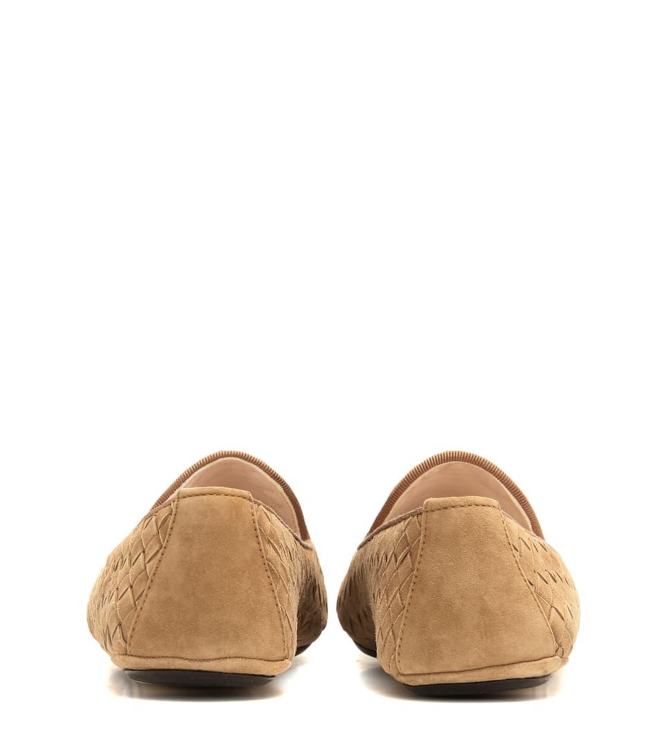 Bottega Veneta Loafers aus Intrecciato-Veloursleder