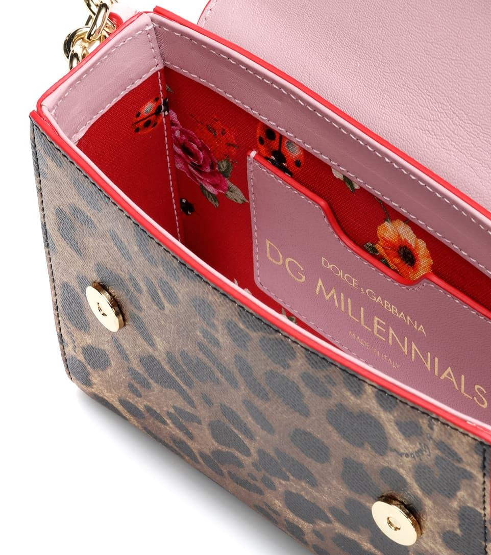 DG amp; de con Dolce amp; Gabbana bandolera cuero Leo Logo Mini Millennials qtdHSw