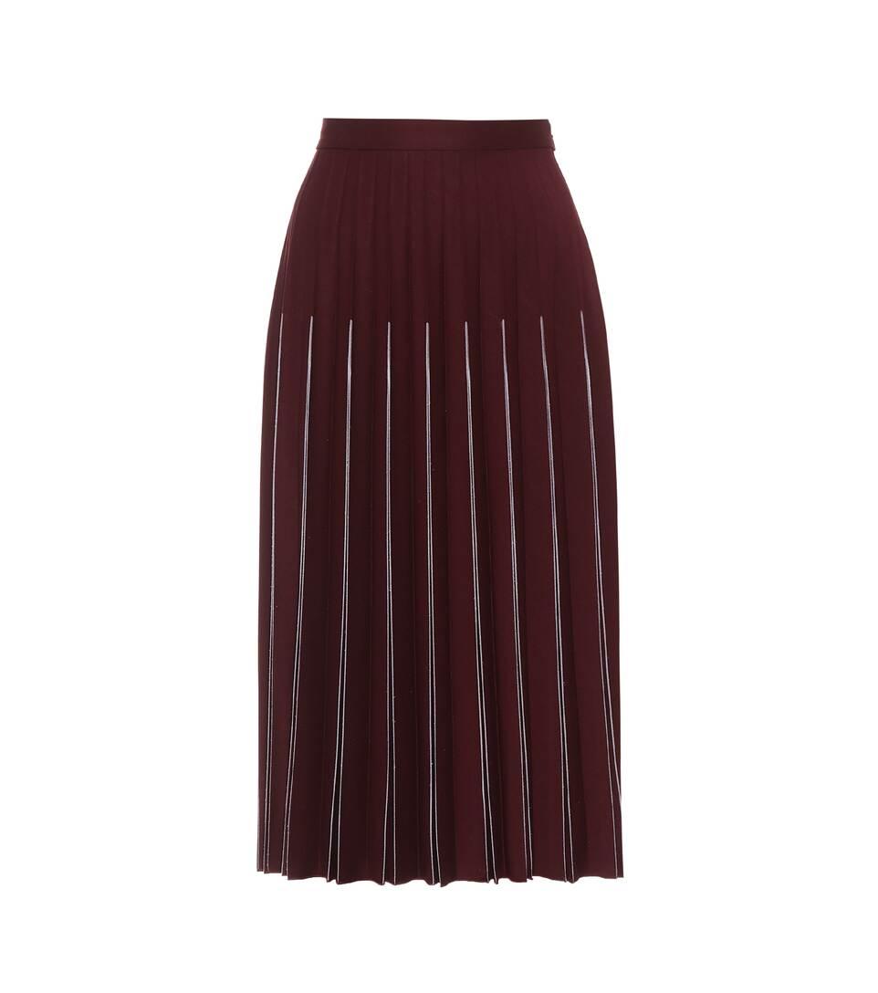 Bottega Veneta Pleated Skirt In Midi Length Wool