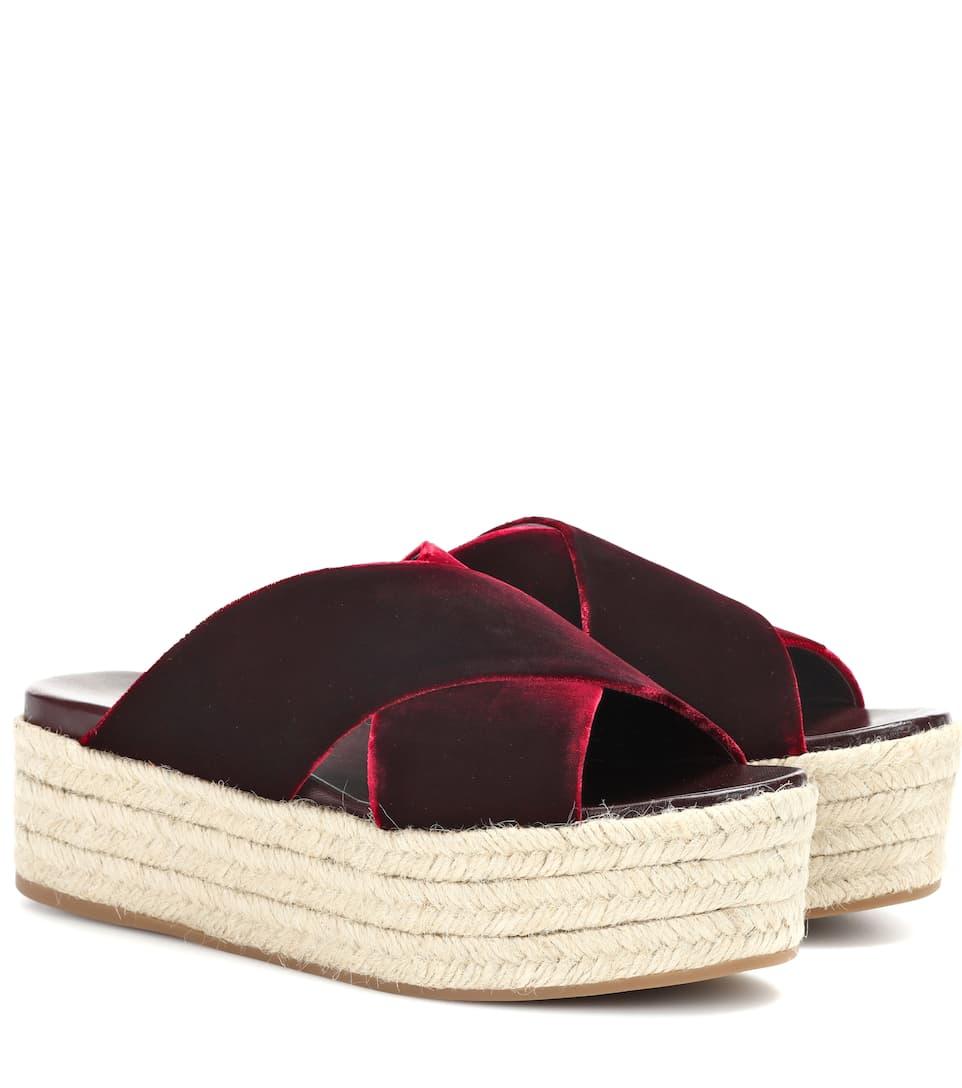 Miu Miu Espadrille-Sandalen aus Samt