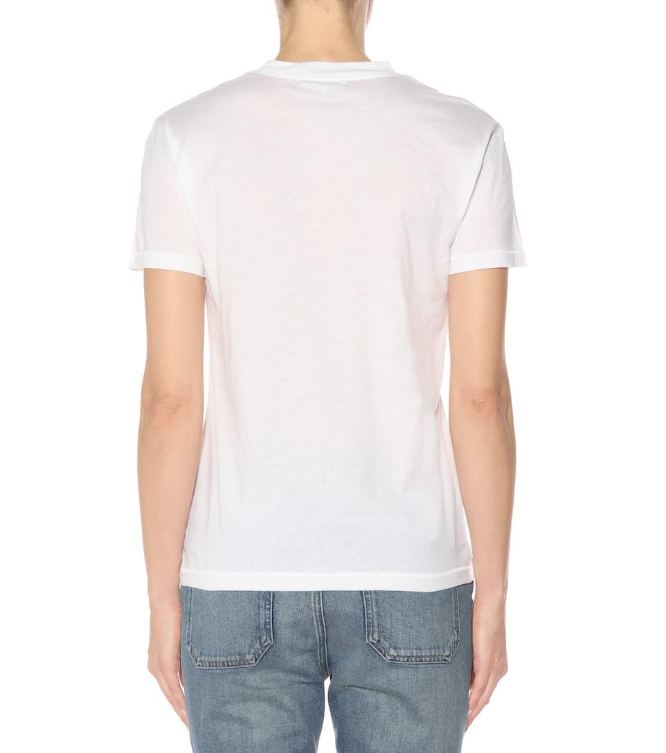 blanco Ganni camiseta brillante de Harway algodón wxPZIpq