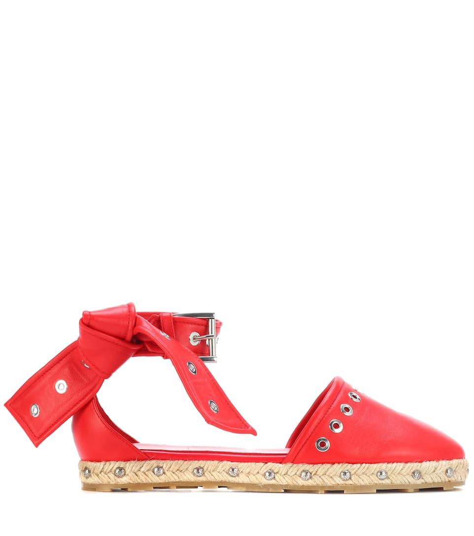 Alexander McQueen Verzierte Sandalen aus Leder