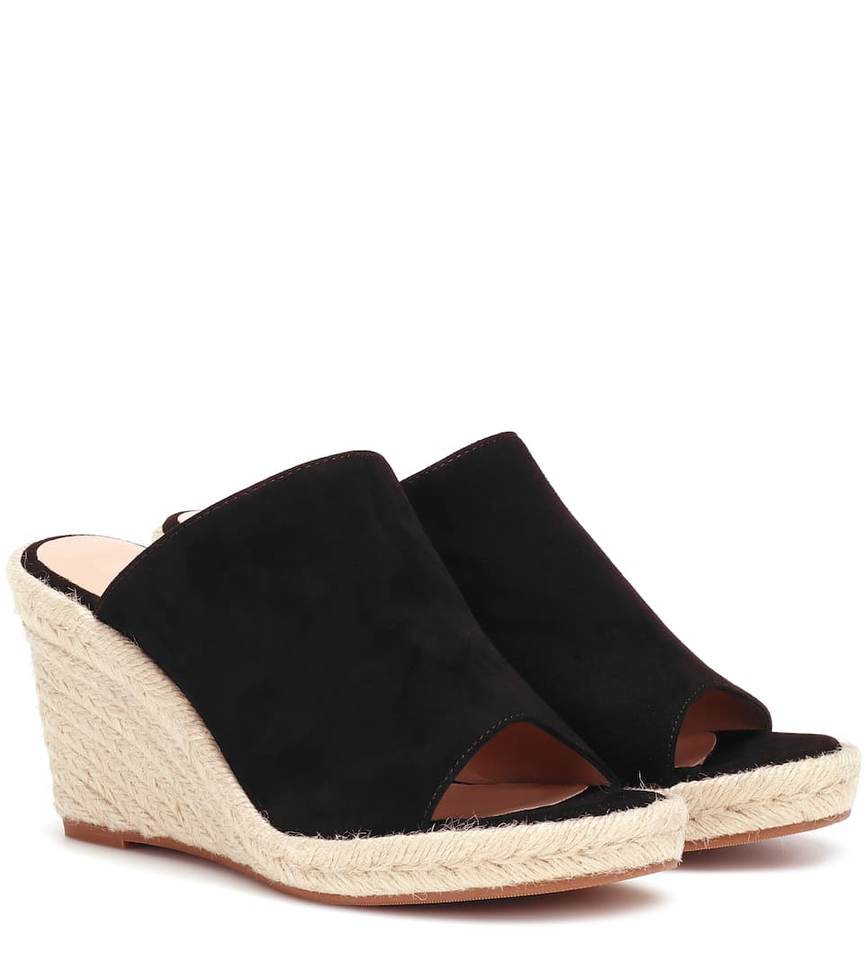 195df0bb68 Stuart Weitzman - Marbella suede wedge sandals | Mytheresa