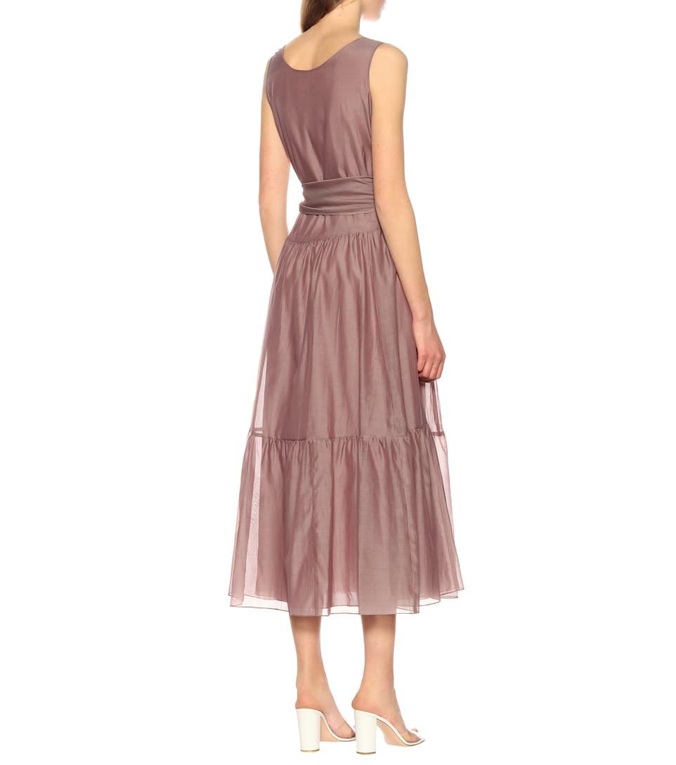 389c1b5f05 Manche Cotton And Silk Voile Dress - S Max Mara | mytheresa.com