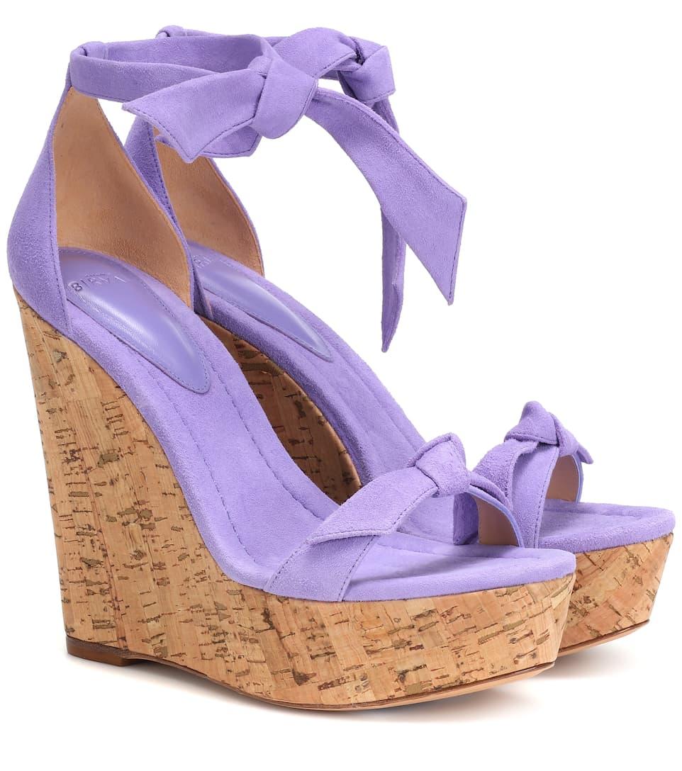 26201a7c05 Clarita 120 Suede Wedge Sandals - Alexandre Birman | mytheresa.com