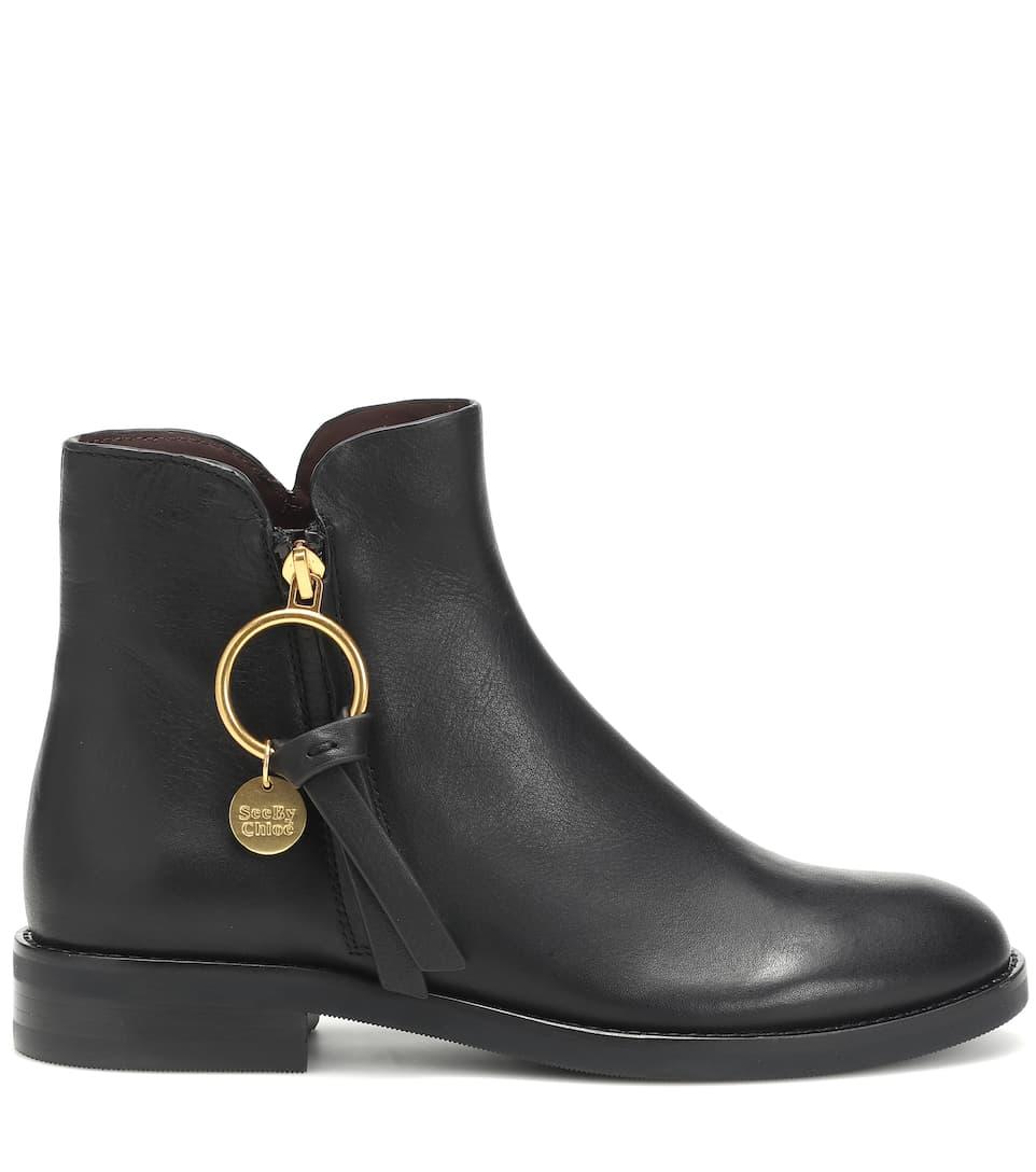 Ankle Boots Louise aus Leder