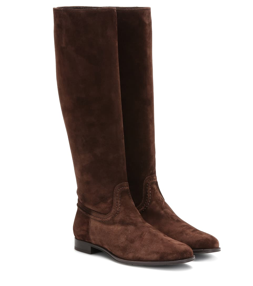 Tod's Suede knee-high boots – Brown
