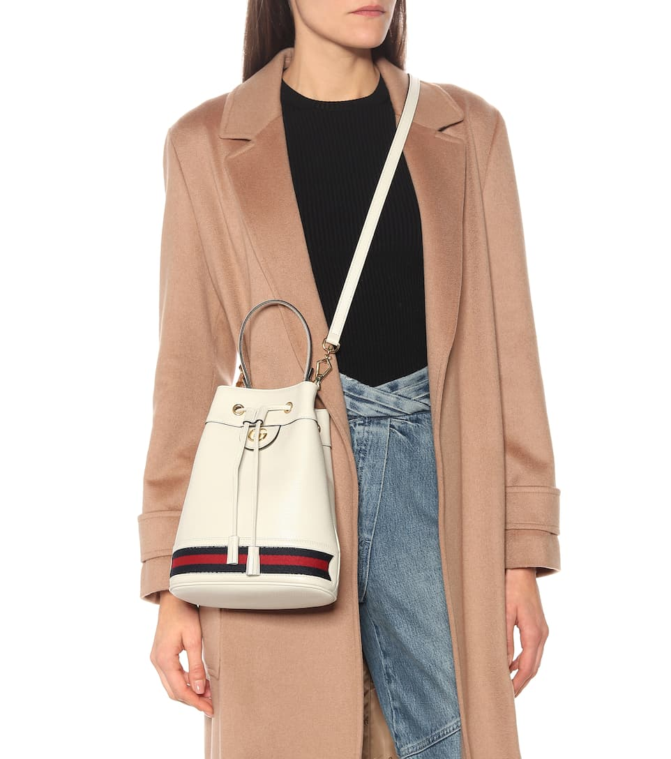 Gucci Ophidia Small Leather Bucket Bag Producao