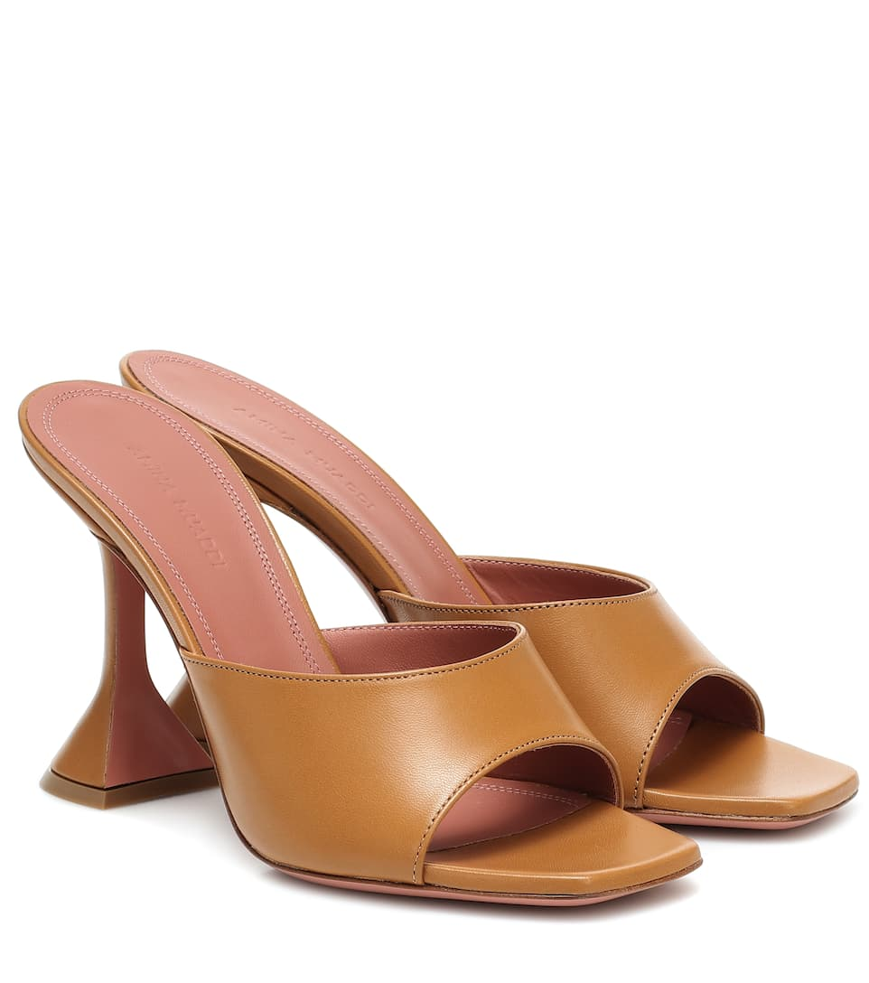 Lupita 95 leather sandals by Amina-Muaddi, available on mytheresa.com for $590 Rihanna Shoes SIMILAR PRODUCT