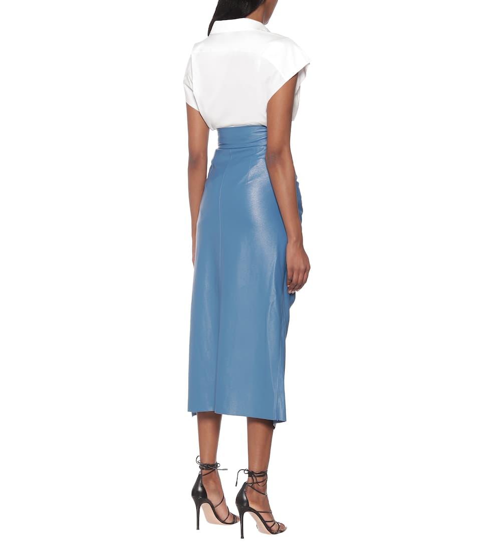 Matériel Tbilisi - High-rise faux-leather midi skirt