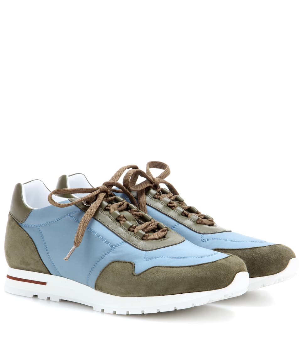 sale 100% original free shipping low shipping Loro Piana My Wind microfibre and suede sneakers sale new rGTiHoJVz