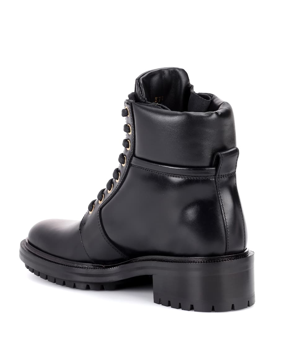 Balmain Ankle Boots Army Ranger aus Leder
