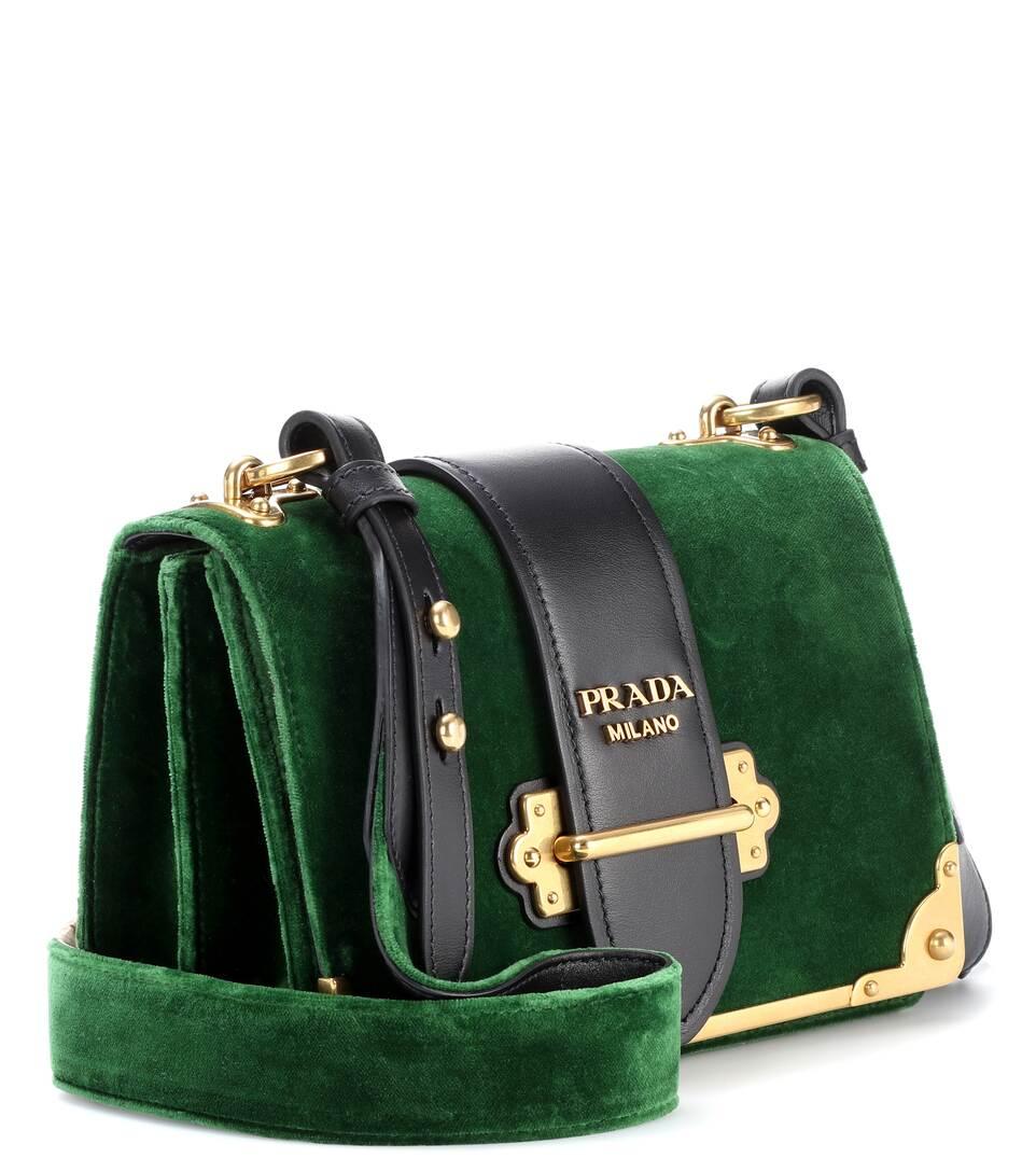 dfcbacd1259f Prada Cahier Bag Green Velvet   Stanford Center for Opportunity ...