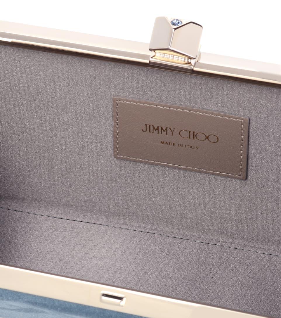 clutch Celeste suede Jimmy Blue Choo Dusk x6Pq6E5tw