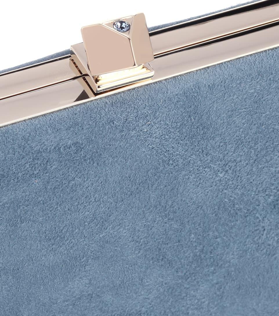 Jimmy Choo Clutch Celeste aus Veloursleder Outlet Angebote Verkauf Viele Arten Von Qualität Frei Für Verkauf 0AwwGi17fr