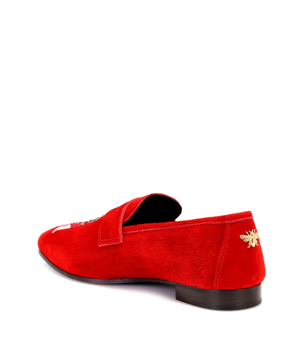 Bougeotte Exclusive to mytheresa.com – embroidered suede loafers outlet wiki excellent online sale online cheap cv1i9RHBb