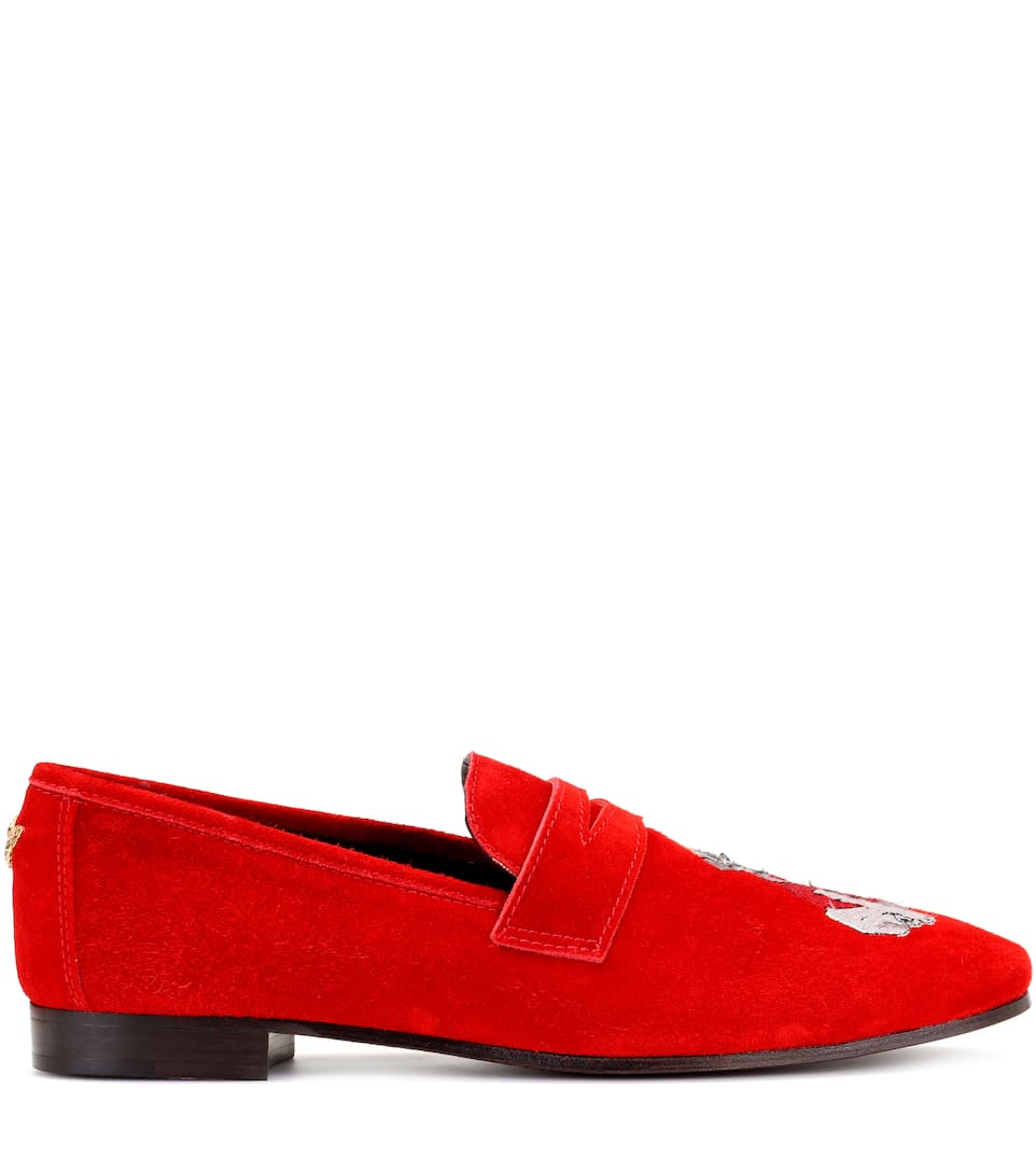 Exclusive to mytheresa.com - embroidered suede loafers Bougeotte EVWE1ln