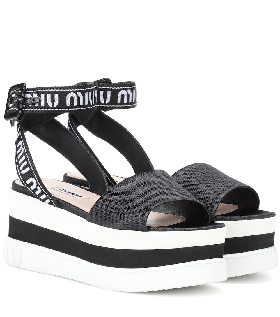 Platform Sandals - Miu Miu | mytheresa.com
