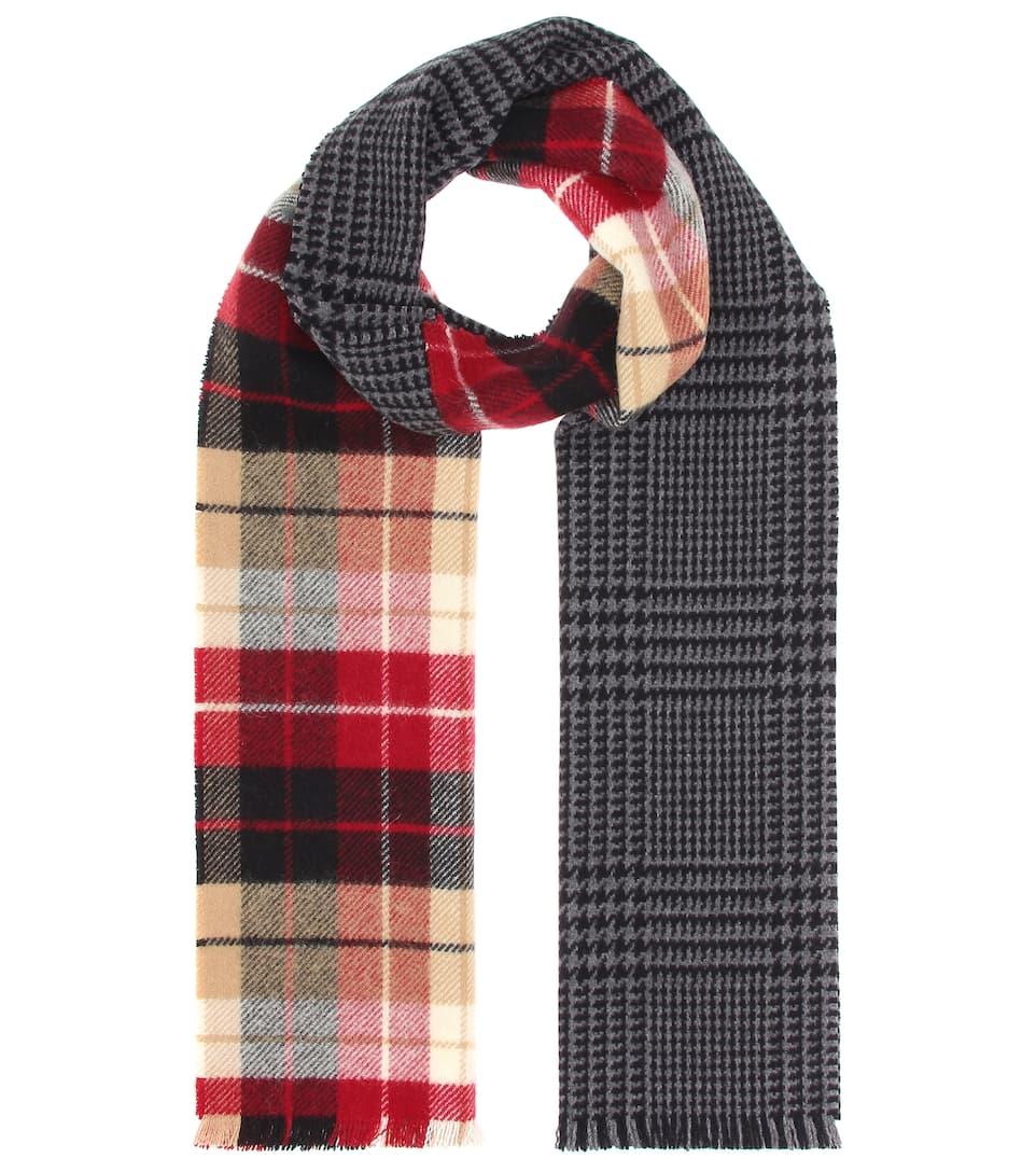 Plaid wool-blend scarf Miu Miu ZrarjylUn