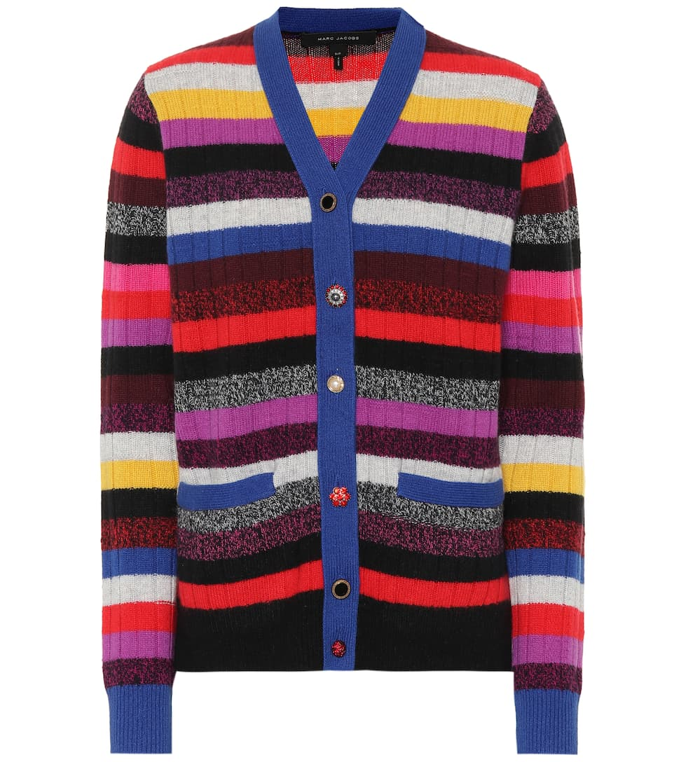 Marc Jacobs Cardigan In A Cashmere Mytheresa Righe ngCF7wnxq