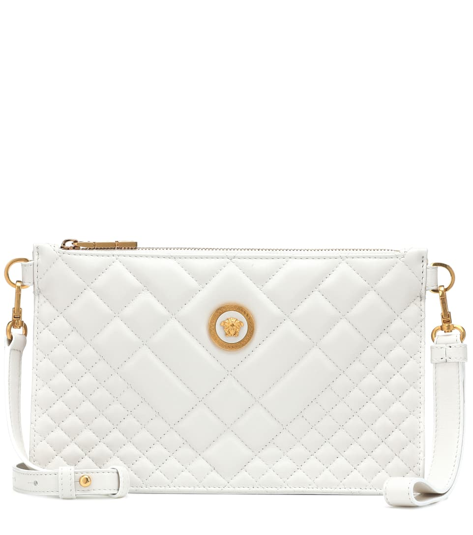 Versace - Quilted leather shoulder bag  319776e5670fd